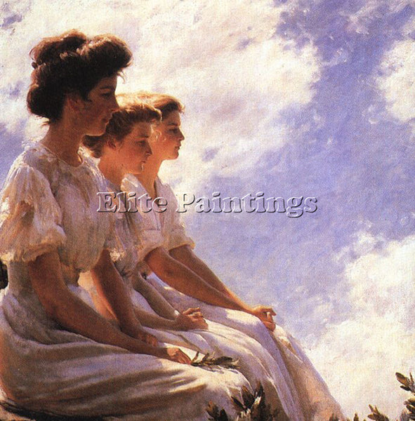 AMERICAN CURRAN CHARLES COURTNEY AMERICAN 1861 1942 ARTIST PAINTING REPRODUCTION