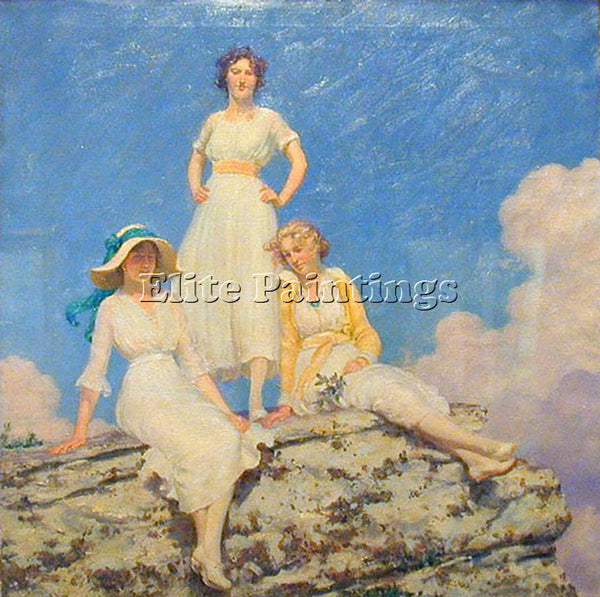 CHARLES COURTNEY CURRAN NOONDAY SUNLIGHT 1918 ARTIST PAINTING REPRODUCTION OIL