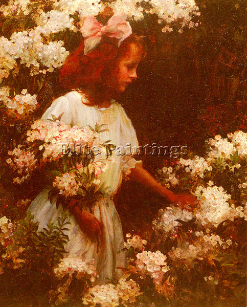 CHARLES COURTNEY CURRAN GARDEN WALK ARTIST PAINTING REPRODUCTION HANDMADE OIL