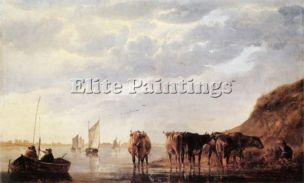 AELBERT CUYP 55HERDS ARTIST PAINTING REPRODUCTION HANDMADE OIL CANVAS REPRO WALL