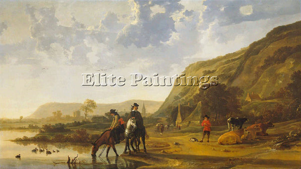 AELBERT CUYP 55RIVER ARTIST PAINTING REPRODUCTION HANDMADE OIL CANVAS REPRO WALL