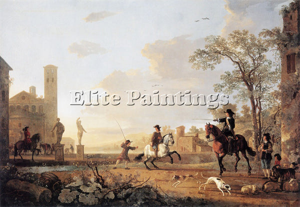 AELBERT CUYP 58HORSE ARTIST PAINTING REPRODUCTION HANDMADE OIL CANVAS REPRO WALL