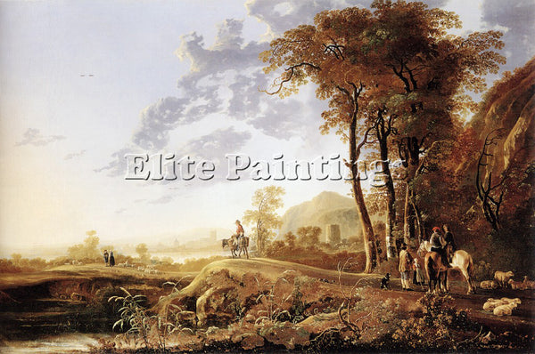 AELBERT CUYP 59EVENING ARTIST PAINTING REPRODUCTION HANDMADE CANVAS REPRO WALL