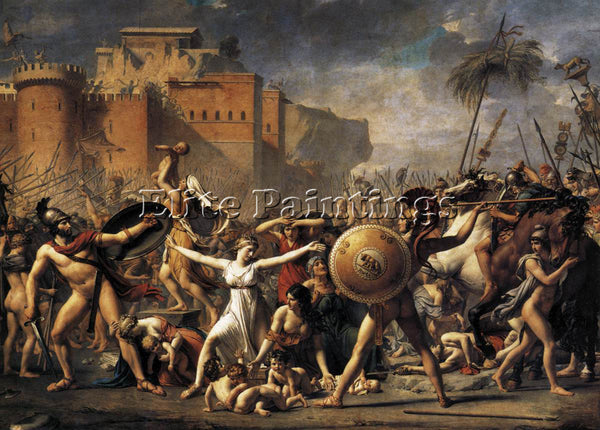 JACQUES-LOUIS DAVID THE INTERVENTION OF THE SABINE WOMEN ARTIST PAINTING CANVAS