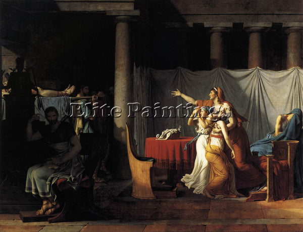 JACQUES-LOUIS DAVID THE LICTORS RETURNING TO BRUTUS BODIES OF HIS SONS PAINTING