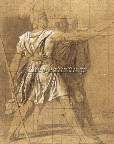 JACQUES-LOUIS DAVID THE THREE HORATII BROTHERS ARTIST PAINTING REPRODUCTION OIL