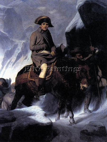 PAUL DELAROCHE BONAPARTE CROSSING THE ALPS ARTIST PAINTING REPRODUCTION HANDMADE
