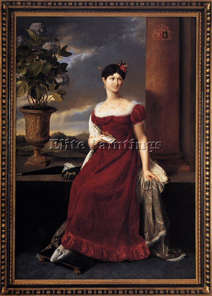 BELGIAN DUCQ LODGE BRIDE OF BARON CHARLES LOUIS DE KEVERBERG DE KESSEL PAINTING