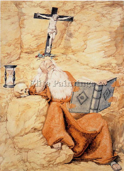 RICHARD DADD A HERMIT ARTIST PAINTING REPRODUCTION HANDMADE OIL CANVAS REPRO ART