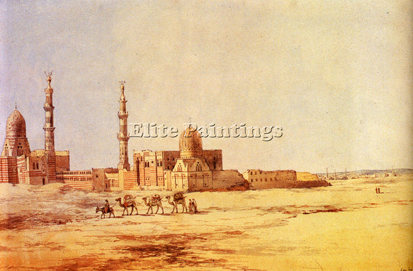 RICHARD DADD TOMBS OF THE KHALIFS CAIRO ARTIST PAINTING REPRODUCTION HANDMADE