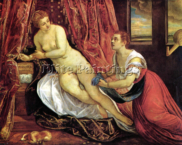 TINTORETTO DANAE ARTIST PAINTING REPRODUCTION HANDMADE OIL CANVAS REPRO WALL ART