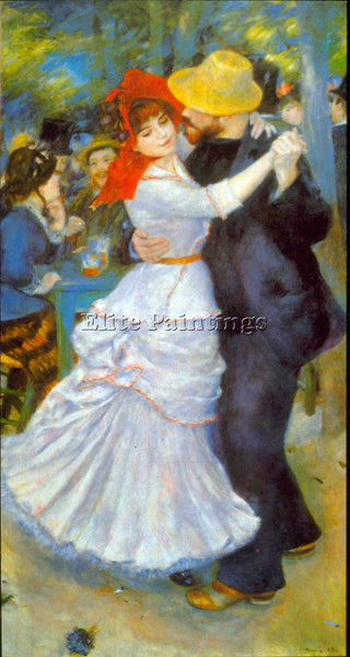 RENOIR DANCE AT BOUGIVAL 2 ARTIST PAINTING REPRODUCTION HANDMADE OIL CANVAS DECO