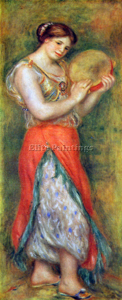 RENOIR DANCER WITH TAMBORINE ARTIST PAINTING REPRODUCTION HANDMADE CANVAS REPRO