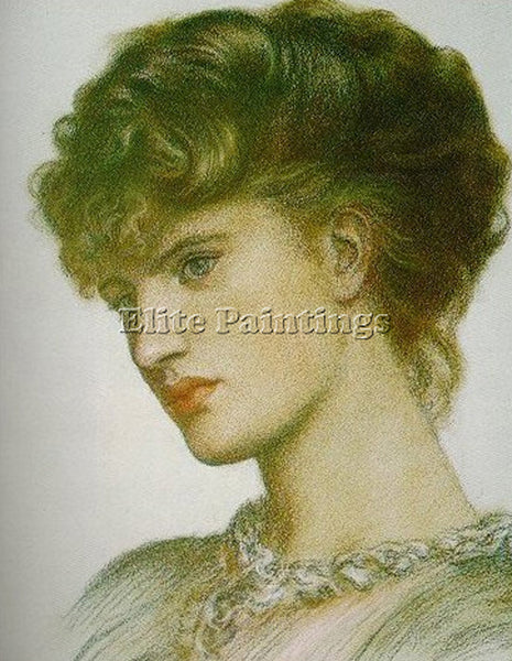 DANTE GABRIEL ROSSETTI PORTRAIT OF A LADY ARTIST PAINTING REPRODUCTION HANDMADE