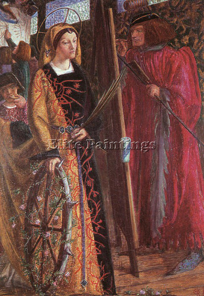 DANTE GABRIEL ROSSETTI SAINT CATHERINE ARTIST PAINTING REPRODUCTION HANDMADE OIL
