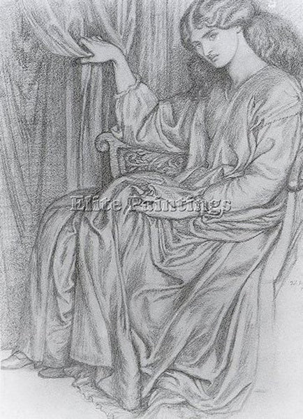 DANTE GABRIEL ROSSETTI SILENCE ARTIST PAINTING REPRODUCTION HANDMADE OIL CANVAS