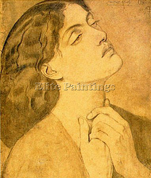 DANTE GABRIEL ROSSETTI STUDY GUINEVERE FOR LANCELOT IN QUEEN S CHAMBER PAINTING