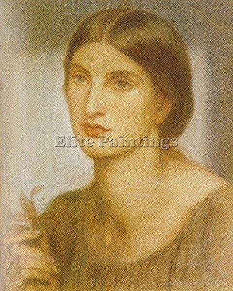 DANTE GABRIEL ROSSETTI STUDY OF A GIRL ARTIST PAINTING REPRODUCTION HANDMADE OIL