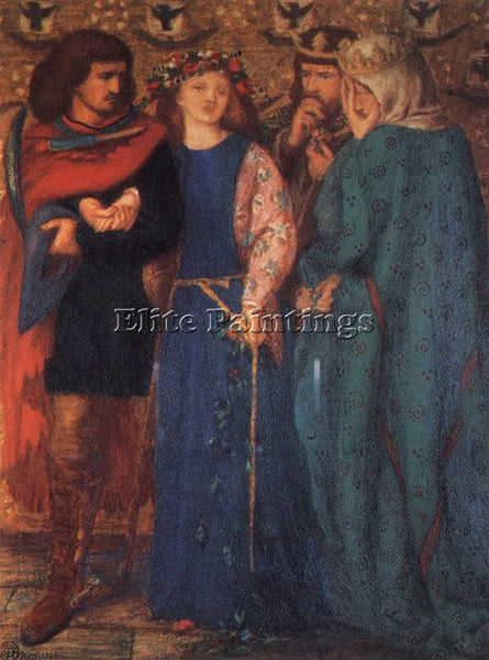 DANTE GABRIEL ROSSETTI THE FIRST MADNESS OF OPHELIA ARTIST PAINTING REPRODUCTION