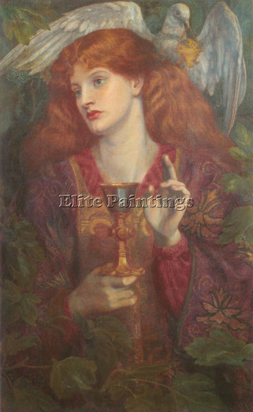 DANTE GABRIEL ROSSETTI THE HOLY GRAIL ARTIST PAINTING REPRODUCTION HANDMADE OIL