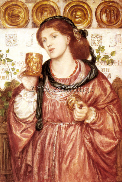 DANTE GABRIEL ROSSETTI THE LOVING CUP ARTIST PAINTING REPRODUCTION HANDMADE OIL