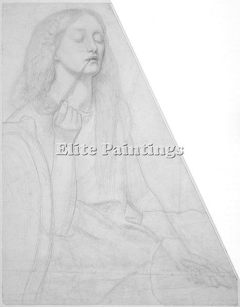 DANTE GABRIEL ROSSETTI STUDY FOR DELIA ARTIST PAINTING REPRODUCTION HANDMADE OIL