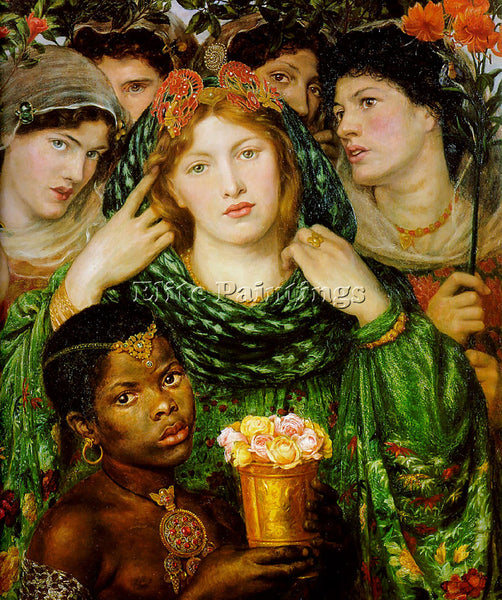DANTE GABRIEL ROSSETTI THE BELOVED ARTIST PAINTING REPRODUCTION HANDMADE OIL ART