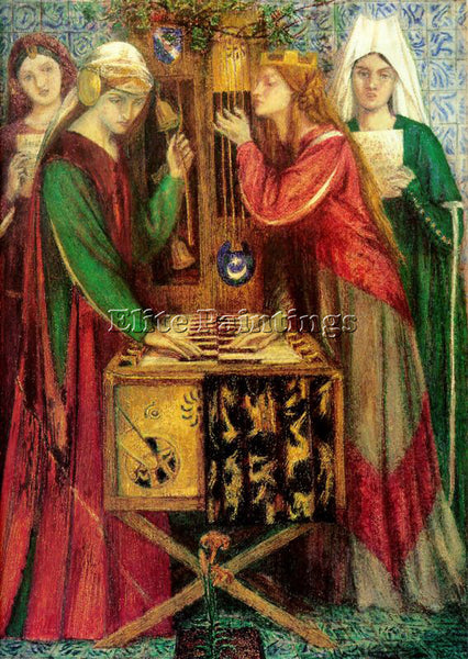 DANTE GABRIEL ROSSETTI THE BLUE CLOSET ARTIST PAINTING REPRODUCTION HANDMADE OIL