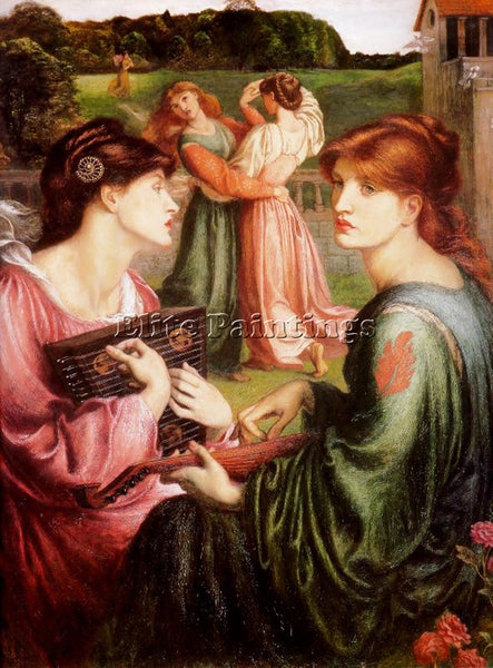 DANTE GABRIEL ROSSETTI THE BOWER MEADOW ARTIST PAINTING REPRODUCTION HANDMADE
