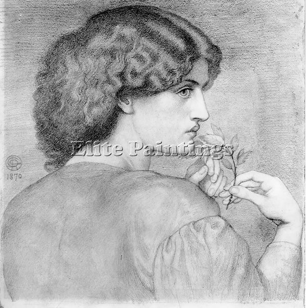 DANTE GABRIEL ROSSETTI THE ROSELEAF ARTIST PAINTING REPRODUCTION HANDMADE OIL