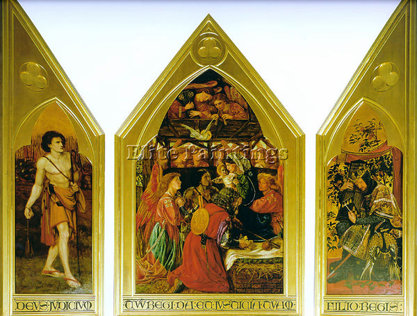 DANTE GABRIEL ROSSETTI THE SEED OF DAVID ARTIST PAINTING REPRODUCTION HANDMADE