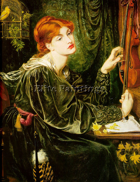 DANTE GABRIEL ROSSETTI VERONICA VERONESE ARTIST PAINTING REPRODUCTION HANDMADE