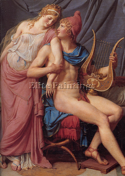 JACQUES-LOUIS DAVID DAVID THE COURTSHIP OF PARIS AND HELEN ARTIST PAINTING REPRO