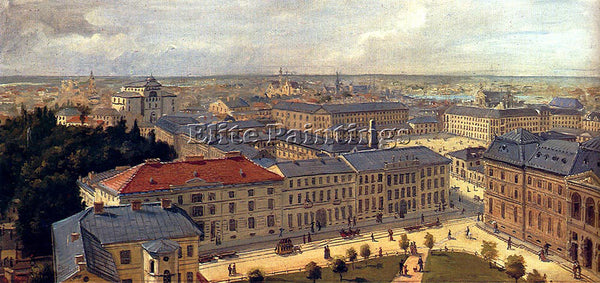 AUSTRIAN DE JANKOWSKI CHESLAS BOIS VIEW OF WARSAW PIC 1 ARTIST PAINTING HANDMADE