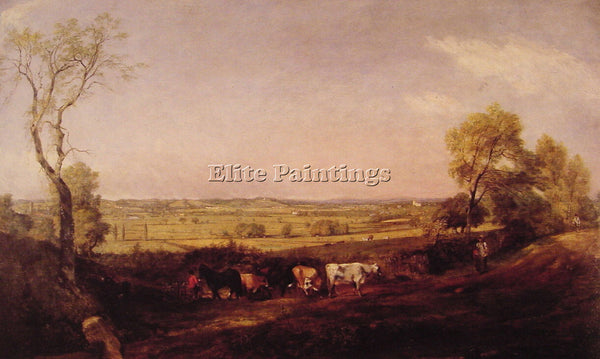 JOHN CONSTABLE DEDHAM VALE MORNING ARTIST PAINTING REPRODUCTION HANDMADE OIL ART