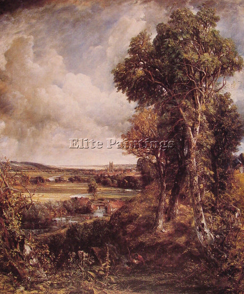 JOHN CONSTABLE DEDHAM VALE ARTIST PAINTING REPRODUCTION HANDMADE OIL CANVAS DECO
