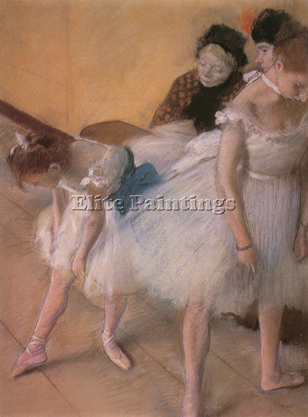 EDGAR DEGAS BEFORE THE REHEARSAL C1880 ARTIST PAINTING REPRODUCTION HANDMADE OIL