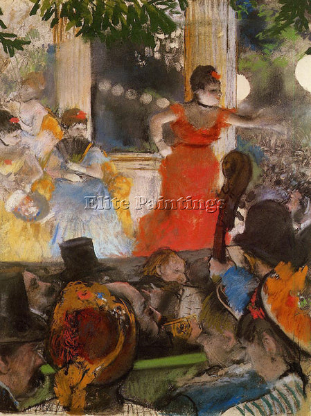 EDGAR DEGAS CAFE CONCERT AT LES AMBASSADEURS ARTIST PAINTING HANDMADE OIL CANVAS