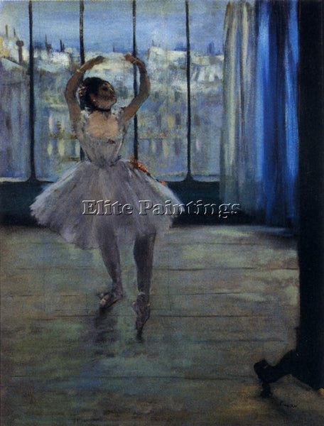 EDGAR DEGAS DANCER AT THE PHOTOGRAPHERS ARTIST PAINTING REPRODUCTION HANDMADE