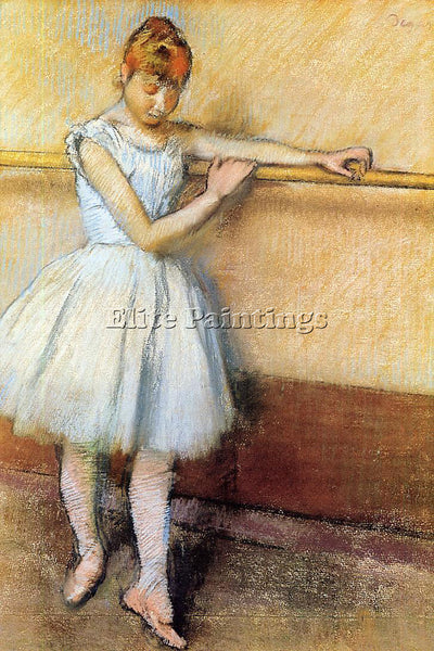 EDGAR DEGAS DANCER AT THE BARRE CIRCA 1880 ARTIST PAINTING REPRODUCTION HANDMADE