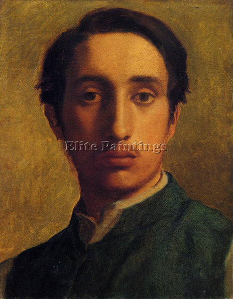 EDGAR DEGAS IN A GREEN JACKET ARTIST PAINTING REPRODUCTION HANDMADE CANVAS REPRO