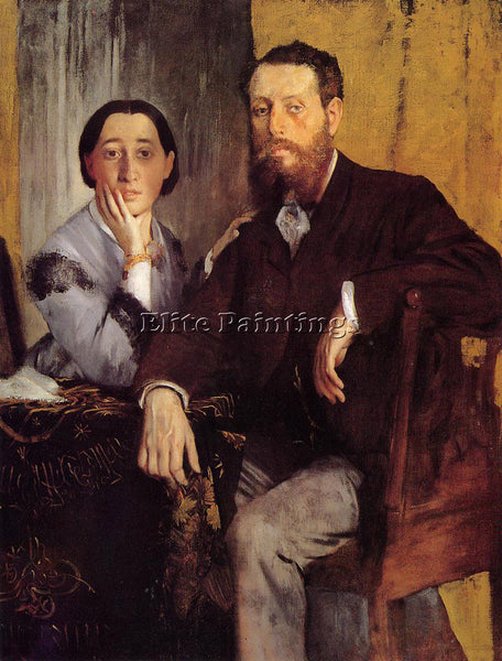 EDGAR DEGAS EDMOND AND THERESE MORBILLI ARTIST PAINTING REPRODUCTION HANDMADE