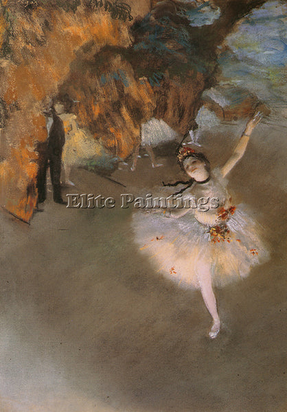 EDGAR DEGAS L ETOILE C 1878 ARTIST PAINTING REPRODUCTION HANDMADE OIL CANVAS ART