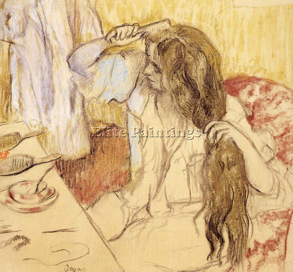 EDGAR DEGAS WOMAN AT HER TOILET ARTIST PAINTING REPRODUCTION HANDMADE OIL CANVAS