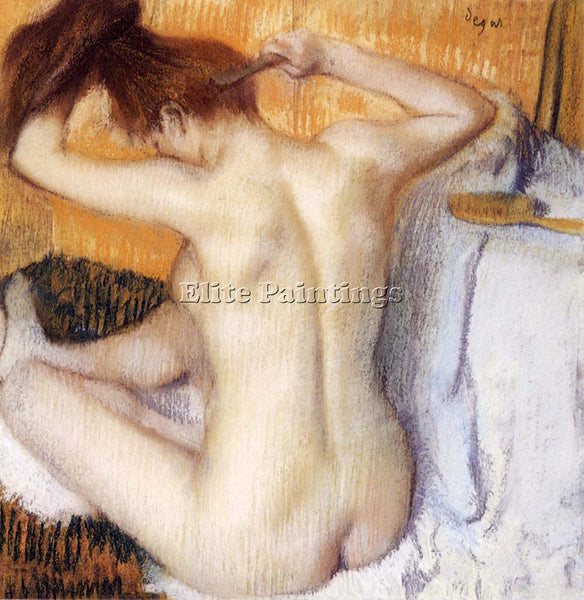 EDGAR DEGAS WOMAN COMBING HER HAIR ARTIST PAINTING REPRODUCTION HANDMADE OIL ART
