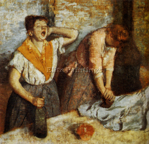 EDGAR DEGAS WOMAN IRONING 1884 ARTIST PAINTING REPRODUCTION HANDMADE OIL CANVAS