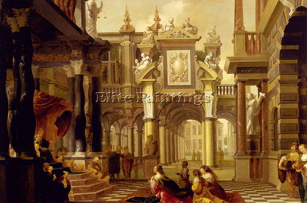 HOLLAND DELEN DIRCK CHRISTIAENSZ VAN SOLOMON RECEIVING QUEEN OF SHEBA ARTIST OIL