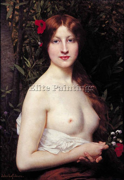 JULES JOSEPH LEFEBVRE DEMI NUDE ARTIST PAINTING REPRODUCTION HANDMADE OIL CANVAS