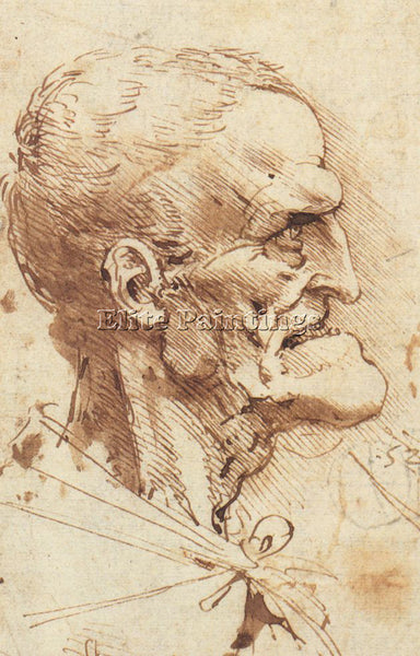 LEONARDO DA VINCI DESSIN CARI MAN ARTIST PAINTING REPRODUCTION HANDMADE OIL DECO