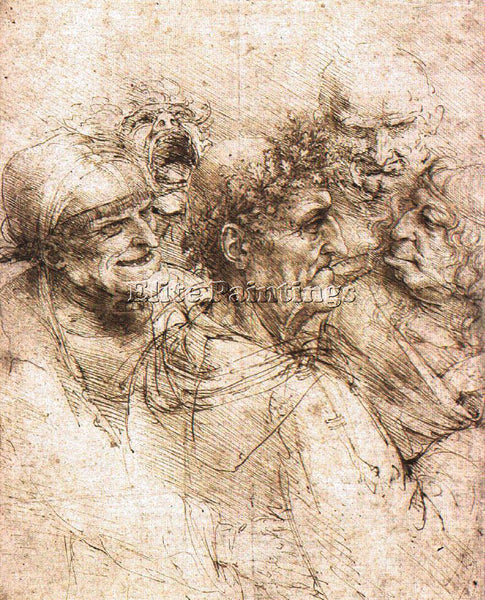 LEONARDO DA VINCI DESSIN OLDMEN ARTIST PAINTING REPRODUCTION HANDMADE OIL CANVAS
